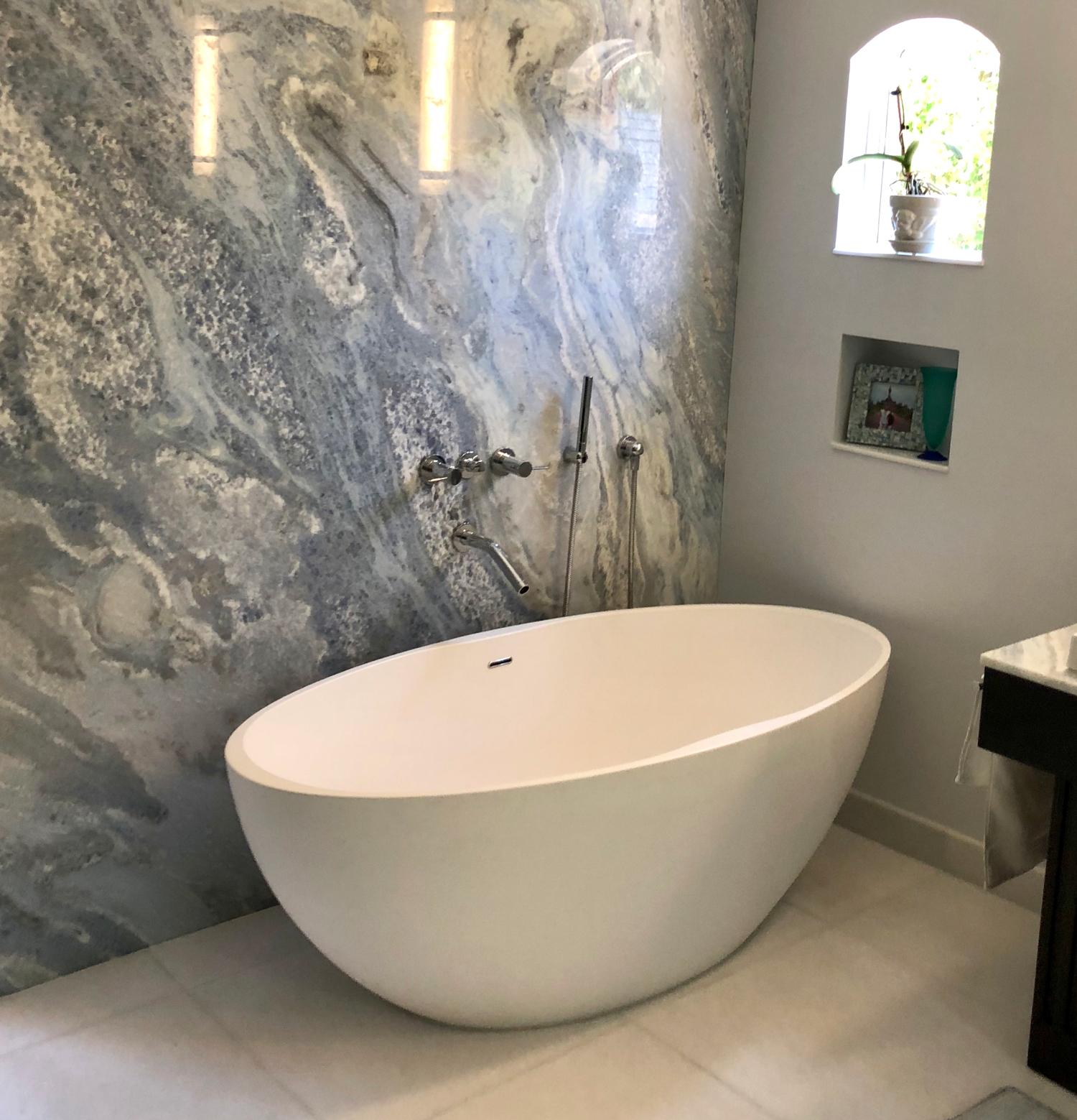 Freestanding Bathtub Model Bw 04 L Stone Resin