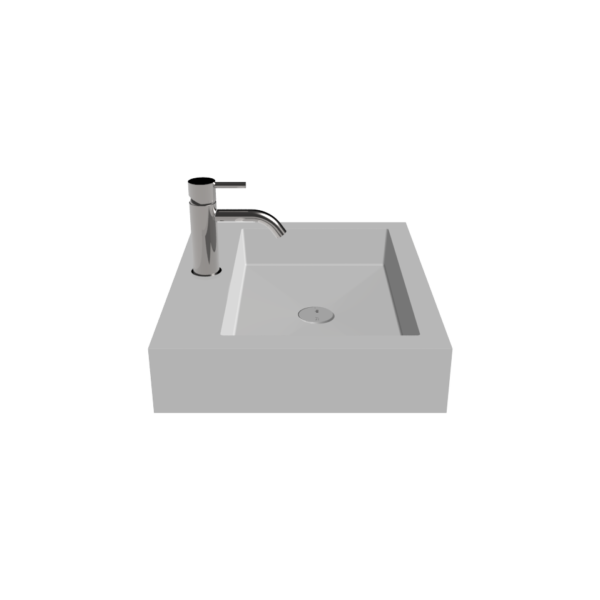 countertop sink wb-05 m side view