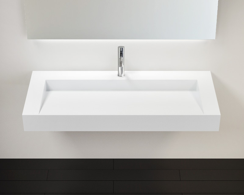 Solid Surface Wall Mounted Bathroom Sink Model Wt 04