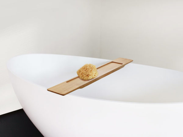 Natural Oak Bathtub Caddy