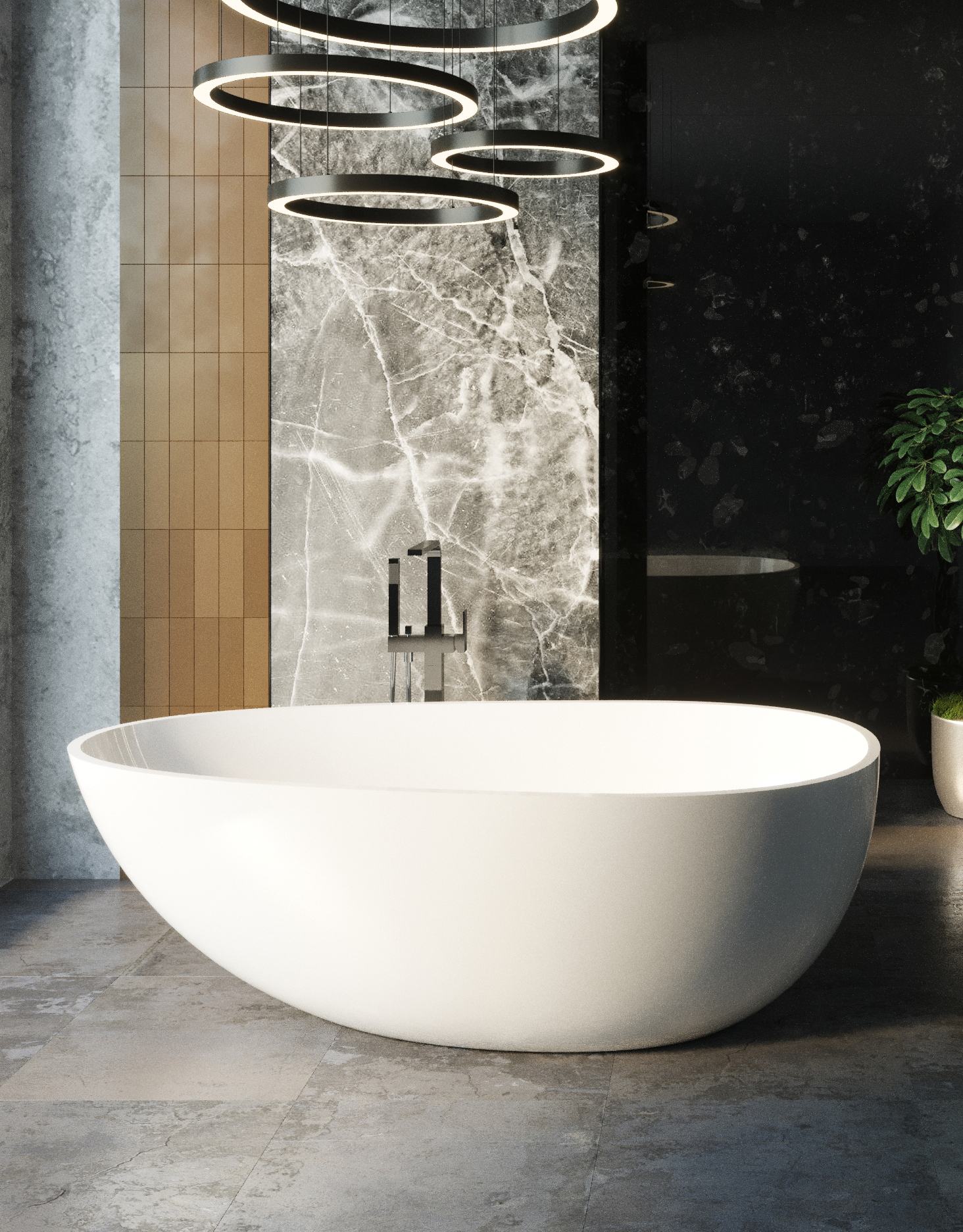 67 Large Freestanding Bathtub