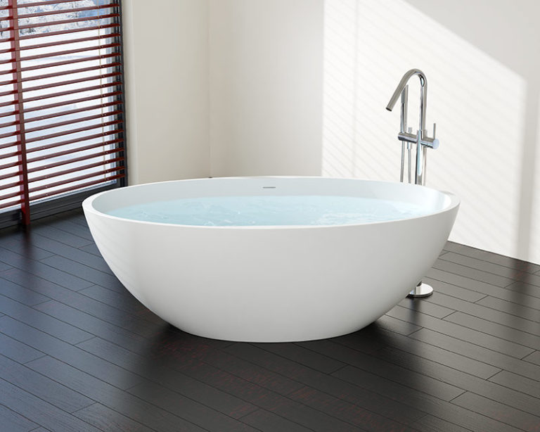 freestanding tub installation