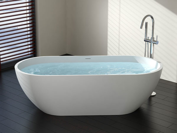 White Oval Freestanding Tub